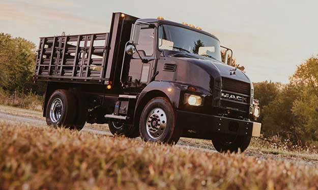 Black Medium Duty Mack Truck Elite Landscape
